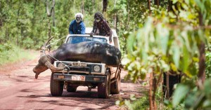 Charlie's country - Black Pete (Peter Djigirr, L) and Charlie (David Gulpilil, R) head home