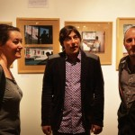 AC - Nadege Mazars, photographe, Yann Stephant, directeur du Festival, et Erwan Larzul, photographe en charge des expos
